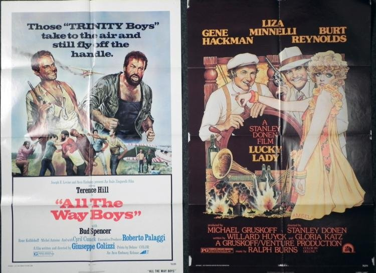 All the Way Boys and Lucky Lady Movie Posters