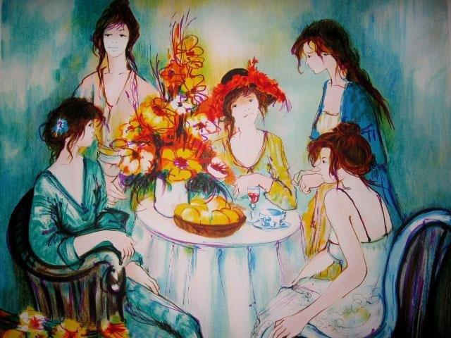 Franck L Signed Ltd Ed Print Ladies Tea