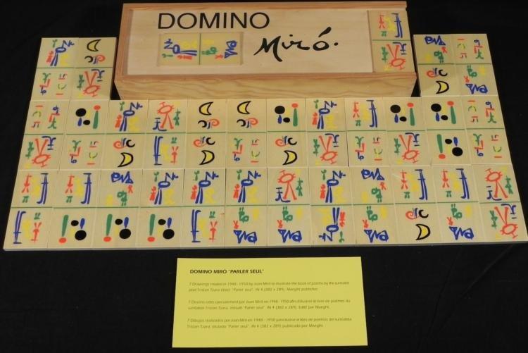 Joan Miro Domino Set Parler Seul Art Dominoes 1958
