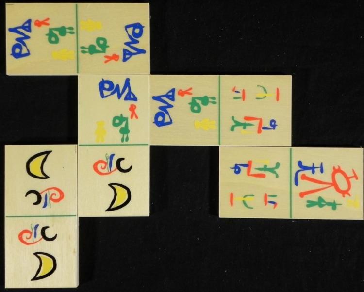 Joan Miro Domino Set Parler Seul Art Dominoes 1958 - 3