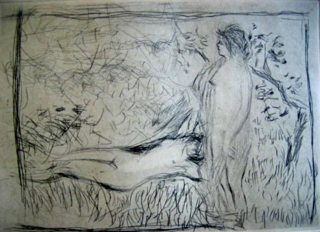 Pierre Bonnard Posthumous Etching Two Nudes