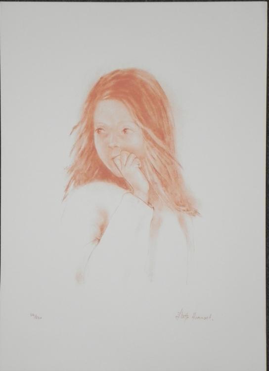 Juliette Honnart Signed Lithograph Print Whisper