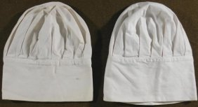 TWO WWII U.S. NAVY COOKS HATS