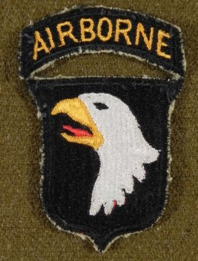 WWII ERA 101ST AIRBORNE PATCH-ORIG-SCREAMING EAGLES