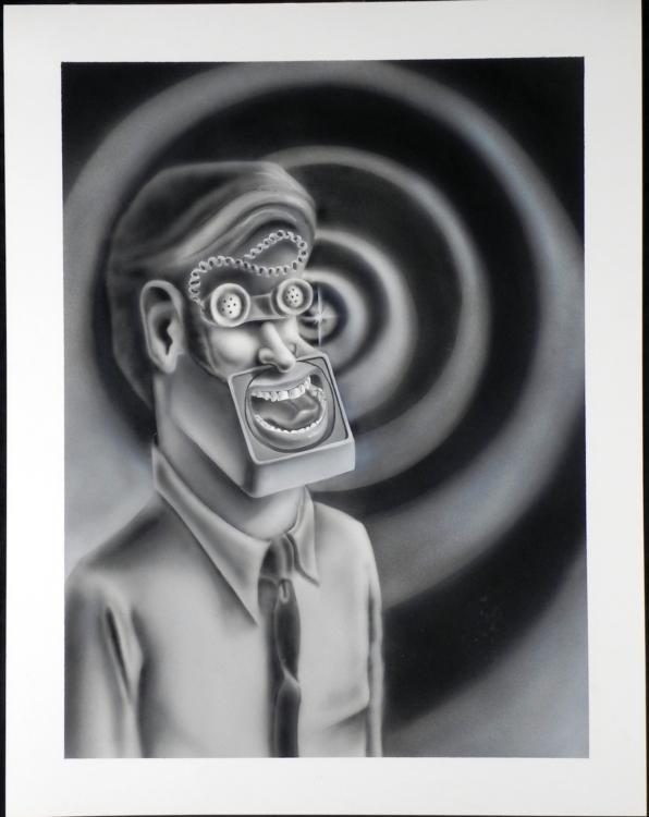 Original Airbrush Telephone Man Don Weaver Signed