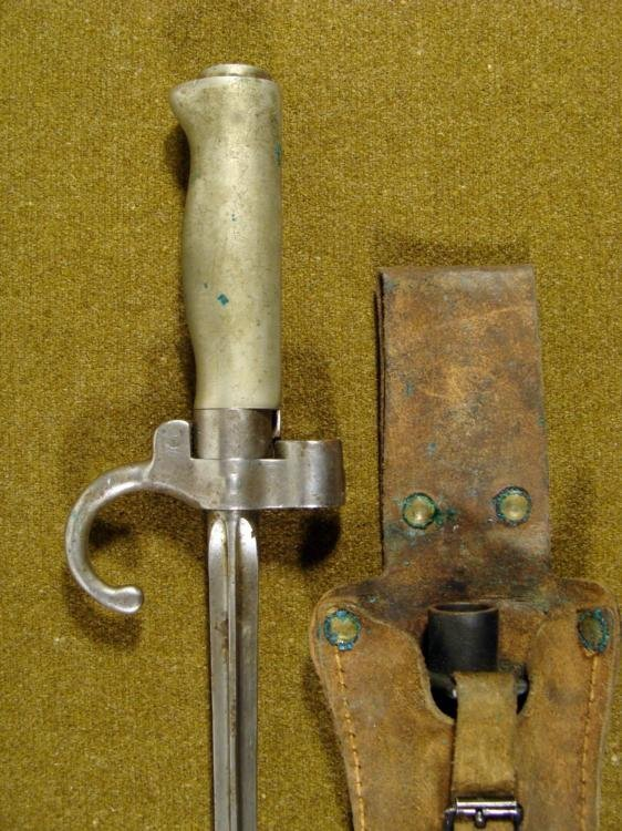 FRENCH BAYONET-MODEL 1886/93/16/35 W/SCABBARD & FROG