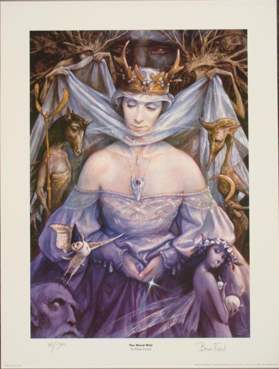 The Wood Wife Brian Froud Signed Fantasy Art Print