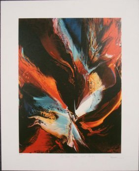 Leonardo Nierman Poems of Fire II S/N 1979 Proof Print