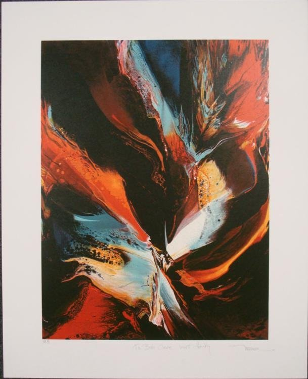 Leonardo Nierman Poems of Fire II S/N 1979 Proof Print