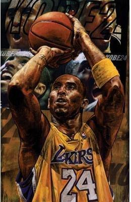 Stephen Holland Signed Kobe Bryant 2010 Art Print