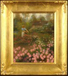 William Chambers Original Painting Killarney Garden