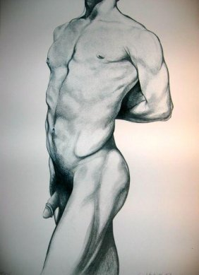 Lowell Nesbitt Signed Art Print Litho 1979 Gay Nude 2