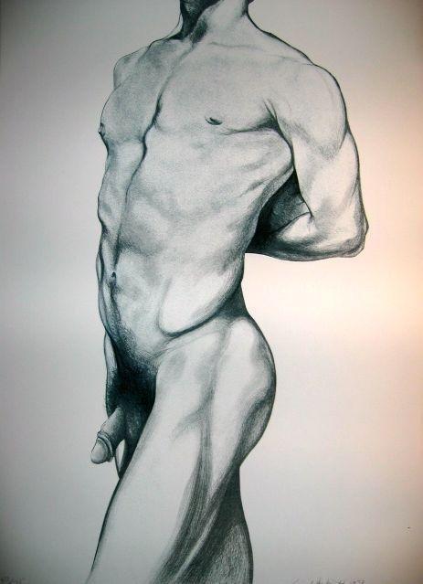 Lowell Nesbitt Signed Art Print Litho 1979 Gay Nude 2