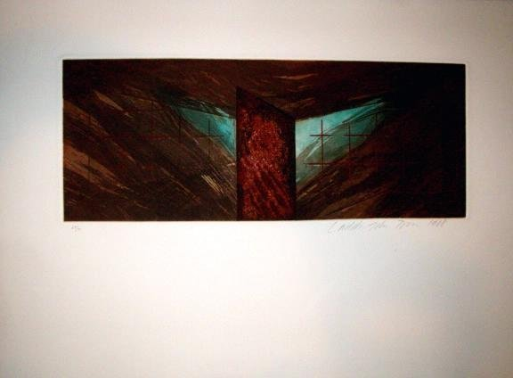 Laddie John Dill Signed LE Art Print Arial Untitled I