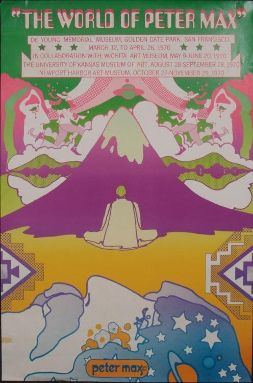 Peter Max Art Exhibit Poster World of Peter Max
