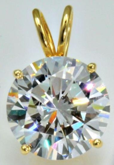 Bianco 8 Carat Round Brilliant Cut Diamond Pendant