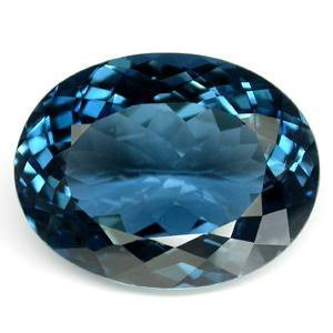 IMMACULATE 23.06ct NATURAL BLUE TOPAZ OVAL CUT MWF1756