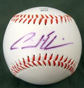 Los Angeles Dodgers Andre Either Autographed Baseball