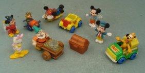 10 Disney Mickey Mouse Pluto Daisy Figurines Lot