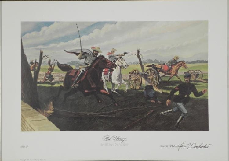 The Charge Juan J'omohundru War Cavalry Art Print