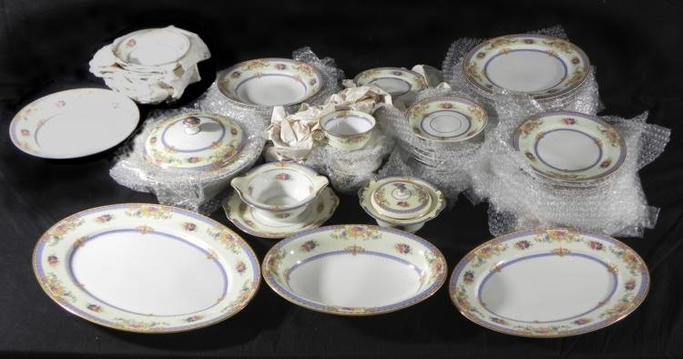 71 Pc KPM Vintage German China Dish Set Floral KPM27