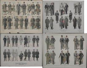 4 Vintage Advertising Art Prints Mens Fashion NY 1920s-