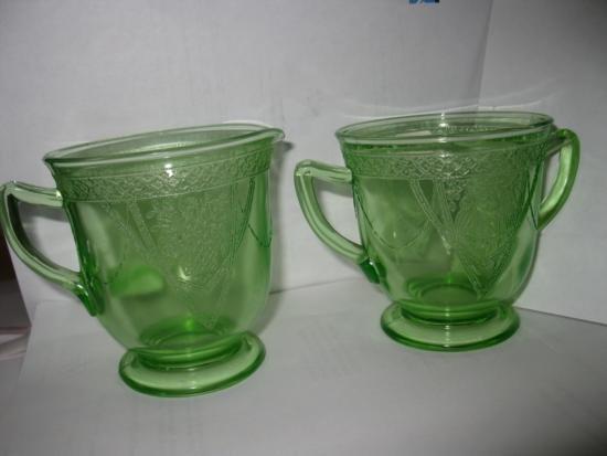 Antique Creamer and Sugar Depression Glass