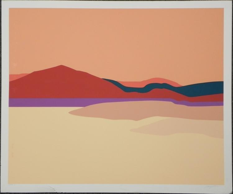 Strata A Artist Signed Proof Modern Landscape Art Print