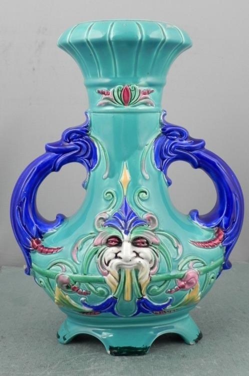 Czechoslovakian Porcelain Vintage Vase w/ Face