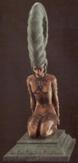 La Plune Bronze By Erte Signed and Numbered