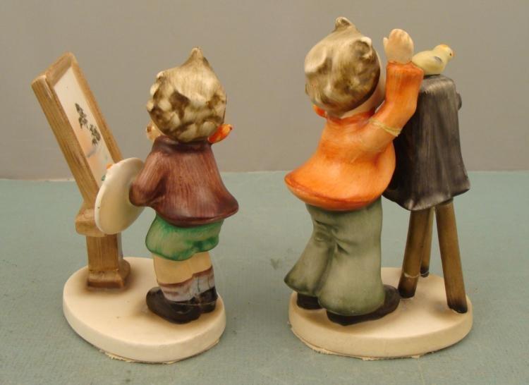 2 Napco Vintage Hummel-Like Ceramic Figurines Children - 2