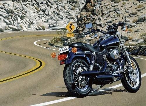 LONG WINDING ROAD Jacobs Harley Motorcycle Art Canvas