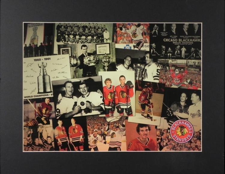 1934-2010 Blackhawks Collage Photo Glenn & Bobby Hull