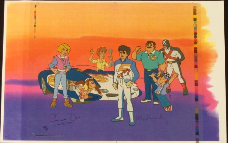 Speed Racer Crew Original Animation Sericel Background