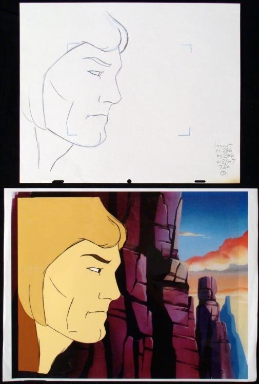 Cel Original Drawing The Mighty Hercules Animation