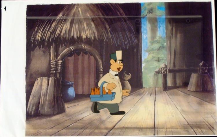 Milk Man Cel Original Animation Printed Background