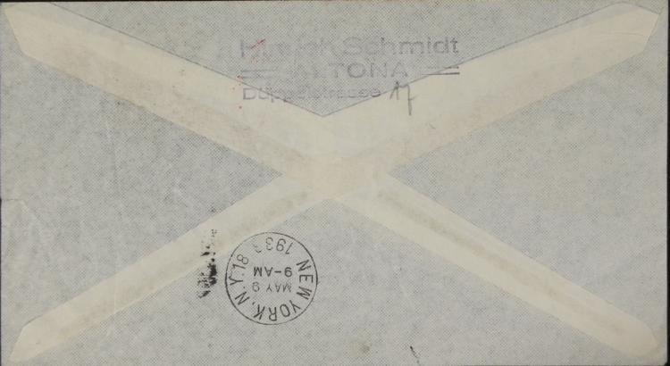 German Graf Zeppelin Hindenburg Stamp Env WWII Nazi - 2
