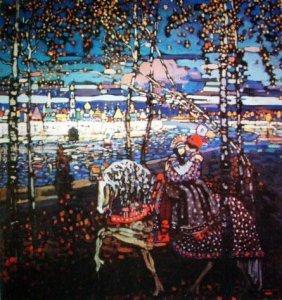 Kandinsky Modern Art Print Couple Riding