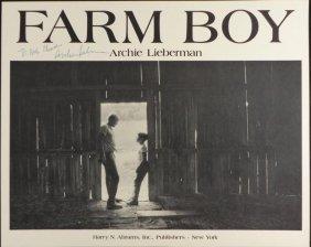 Farm Boy Signed Poster Archie Lieberman Man-to-Man