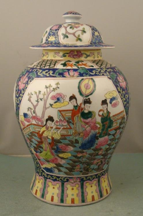 Large Antique Chinese Porcelain Oriental Urn