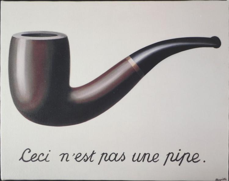 La Trahison des Images Rene Magritte Print On Canvas
