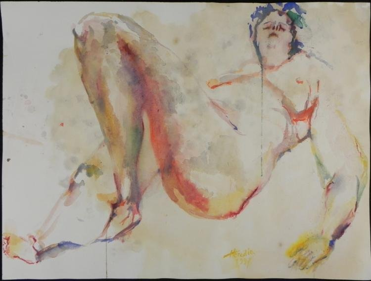 Betty Snyder Rees Original Painting Nude Woman Model