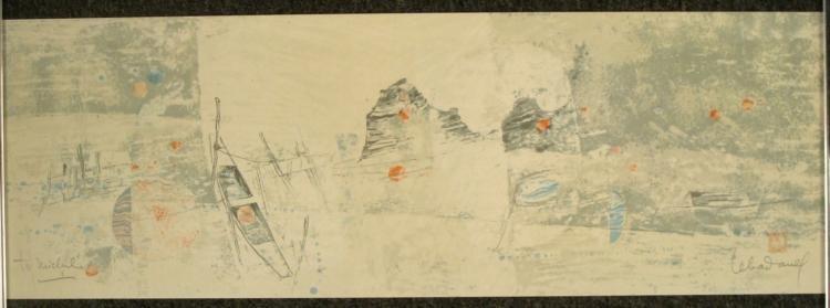 Hoi Lebadang Signed Art Print 1983 Circle Gallery