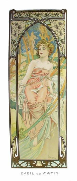 Alphonse Mucha : Eveil de Matin Art Print