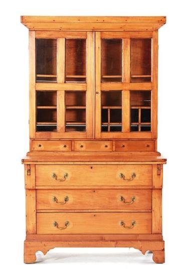 GT0424120079 American Cherry writing desk and bookcase