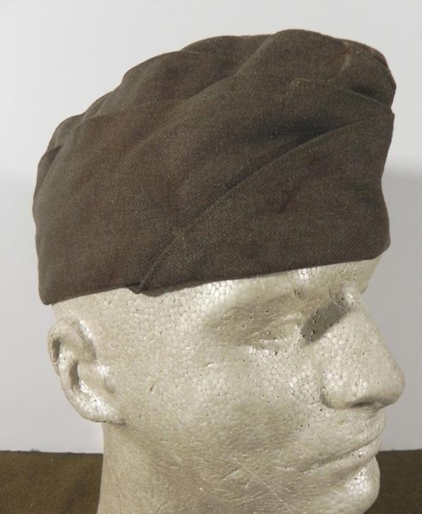 WWII U.S. OD COLORED SIDECAP CAP