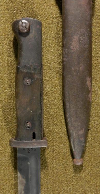 NAZI K98 COMBAT BAYONET/SCABBARD/FROG-BLADE MKD 1936