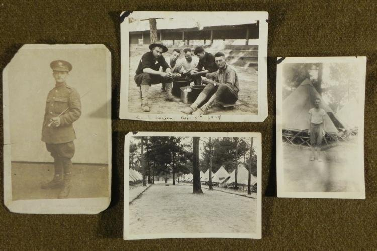 4 US WWI DOUGHBOYS ORIGINAL WAR PHOTOS + UNIFORM SHOT