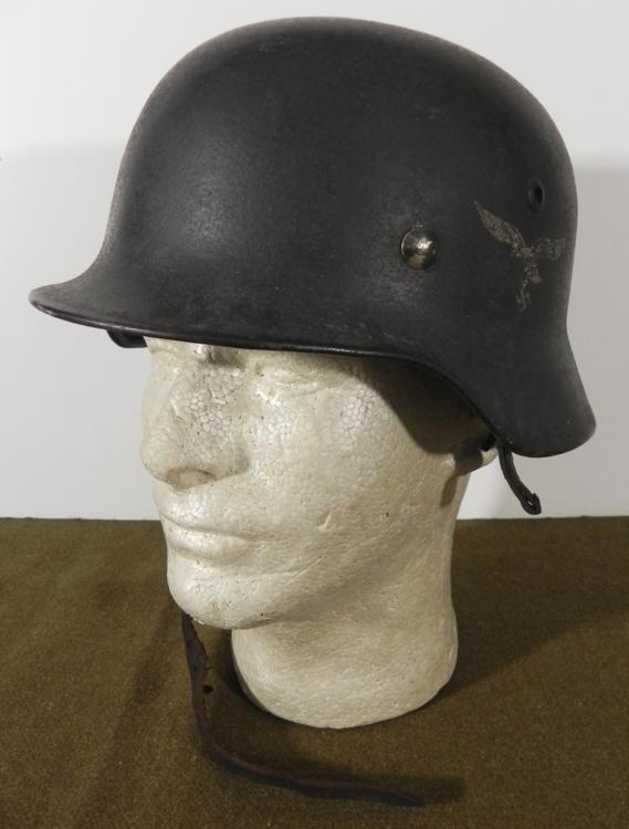M-40 NAZI LUFTWAFFE SINGLE DECAL COMBAT HELMET-ORIGINAL