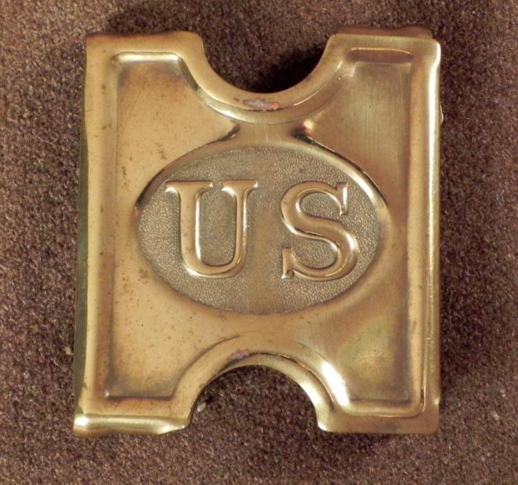ORIGINAL SPANISH-AMERICAN WAR US CARTRIDGE BELT BUCKLE